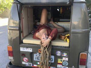Vanja a e il suo van